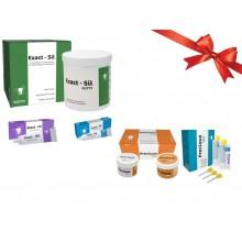ExactSil Kit (Ideal pentru amprente de inalta precizie) + Precious KIT: Putty 2X300ml +LIGHT fast 2X50 ml (silicon de aditie)