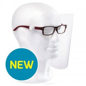 Ecran protectie (viziera) montat pe ochelari PEGASUS -KIT dispozitiv + 12 ecrane