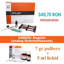 PROMO ReLight Kit 6 seringi compozit nano + Poliren - BONUS stand Tehnodent