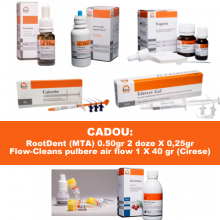 PACHET PROMO ENDO 2: CresoTin (analog Rockle's) + EDTAle gel cu peroxid 5ml + CalceTin Endo + Antiseptic lichid nr 2 (analog Parcan) concentratie 3 % - 100ml + Eugetin (analog Endomethasone)