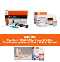 PACHET PROMO RESTAURATIV 1: ReLight Kit 4 seringi compozit nano+Travlin - BONUS stand Tehnodent + GlassyCem A2 - glasionomer pentru Restaurare (analog Fuji IX )