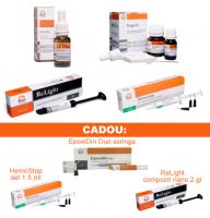 PACHET PROMO MIXT 2: CresoTin (analog Rockle's) + Eugetin (analog Endomethasone) + HemoStop gel 5ml + ReLight compozit nano 4 gr