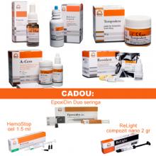 PACHET PROMO MIXT 3: CresoTin (analog Rockle's) + EDTAle lichid 20 % 100ml + Aqua-Cem (analog Adhesor) + Tempodent 50gr (analog Citodur) + RootDent (MTA)