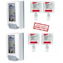 Promo Diversey4 dezinfectant de maini biocid : 4 X SoftCare DES (biocid) rezerva 1,3 L +BONUS : 2X Dispenser Manual