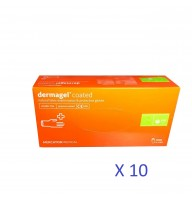 Manusi Dermagel latex nepudrate bax 10 cutii