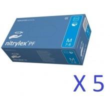 Manusi nitril Nitrylex marime XS - culoare albastru - bax 5cut  X 200 buc -LOT 2020