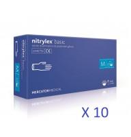 Manusi nitril  Nitrylex culoare violet -bax 10 cutii