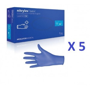 OFERTA Manusi nitril Nitrylex - culoare albastru inchis - bax 5cut  X 200 buc