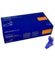 Manusi nitril fara pudra Nitrylex marime XS - cutie 100buc culoare albastru