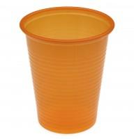 Pahare plastic set 100 bucati - orange