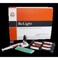 PROMO ReLight Kit 6 seringi compozit nano+Travlin- BONUS stand Tehnodent