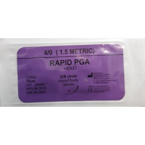 Ace sutura Rapid PGA  resorbabile Zogear 4/0 rotund ( 1buc)